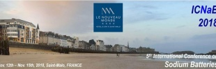 5th edition of the International Conference on Sodium Batteries (ICNaB) in St Malo