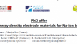 PhD offer « High energy density electrode materials for Na-ion batteries »